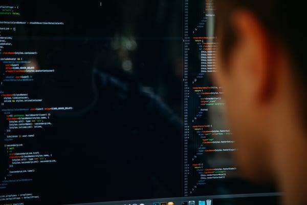 person coding