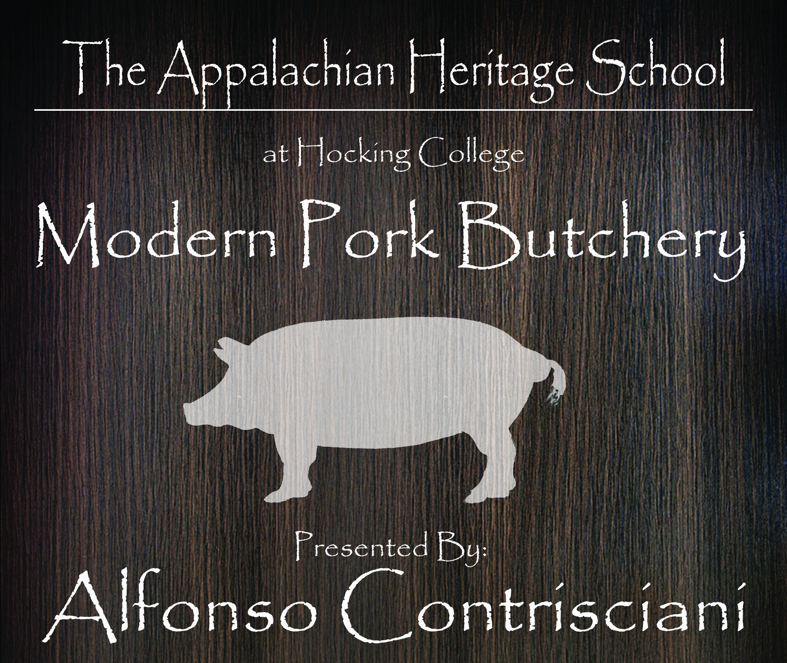 Hocking College Faculty | Modern Pork Butchery: Mangalitsa Workshop<br><br>Master Chef Alfonso Contrsciani